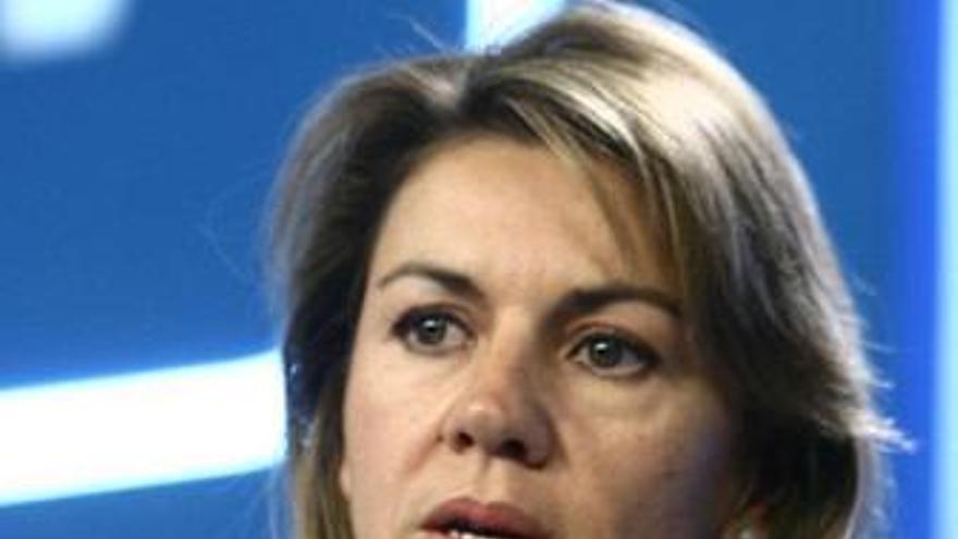 Cospedal dice que los militantes del PP están ''satisfechos''