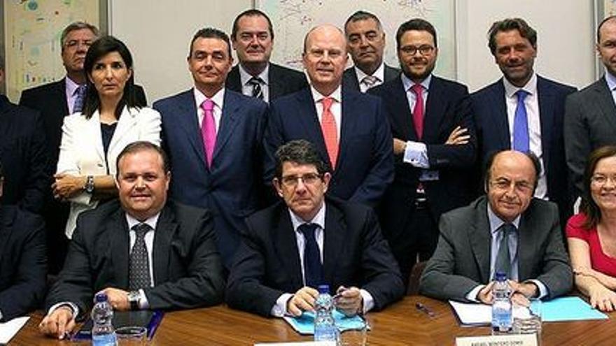 Consejo de Administración de la SGR antes de la quiebra.