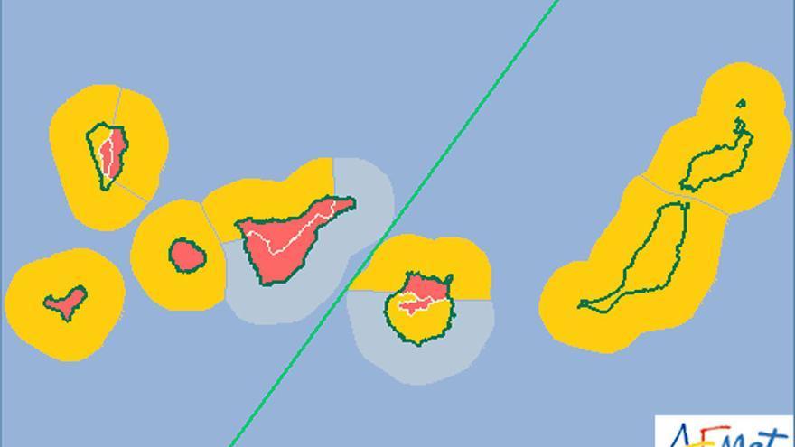 La AEMET eleva el nivel de alerta por vientos a rojo
