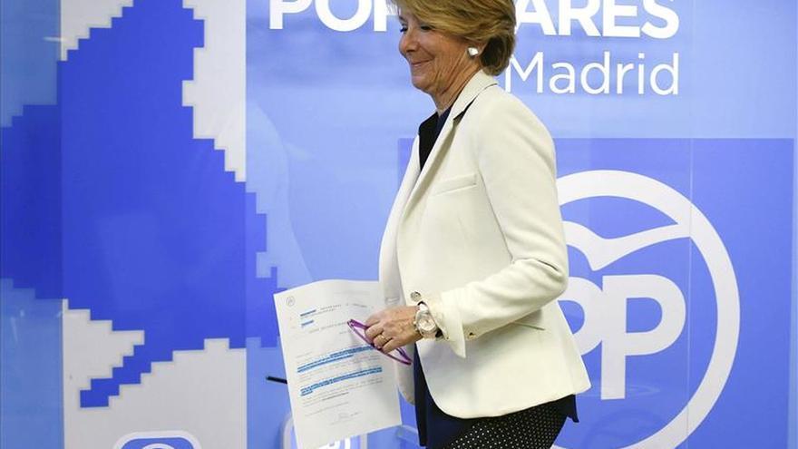 """Aguirre asegura que en la Comunidad de Madrid """"de momento hay un PP"""""""
