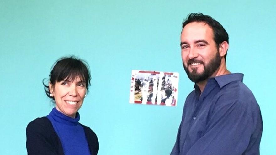 Jenny García y Macos Lorenzo han firmado un acuerdo de gobierno.