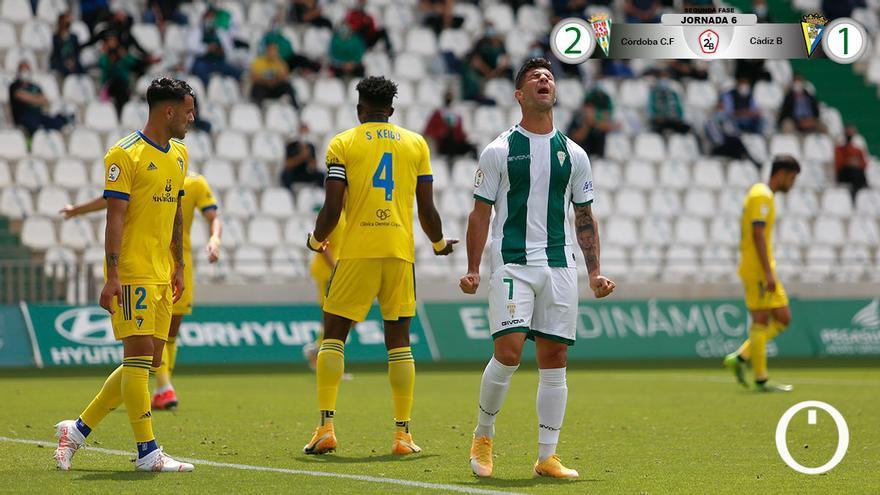 Al Córdoba no le sirve la victoria ante el Cádiz B