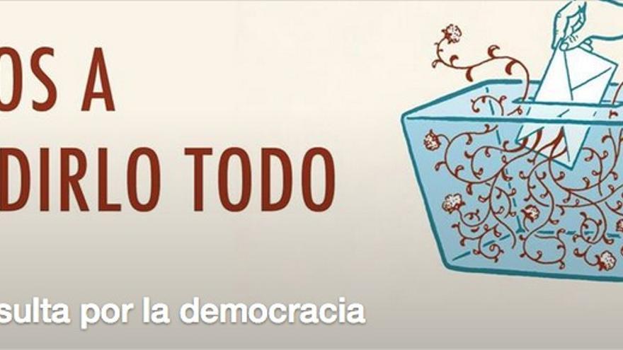 Campaña pro referéndum diseñada por Marea Democracia