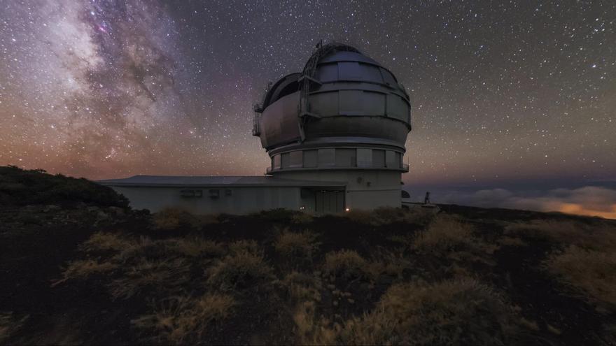 El Gran Telescopio Canarias (GTC o Grantecan) del Observatorio del Roque de Los Muchachos, en las cumbres de Garafía.