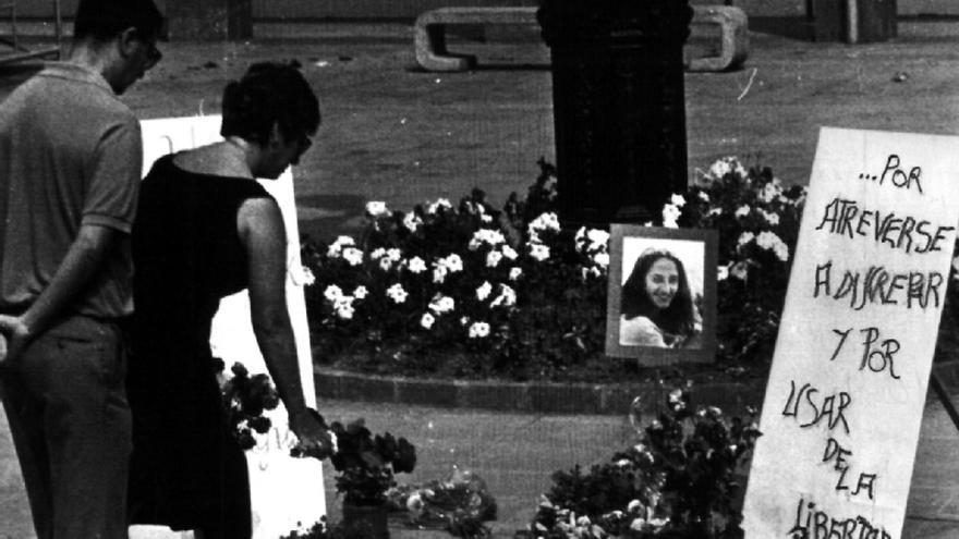 Lugar donde fue asesinada Yoyes el 10 de septiembre de 1986, en Ordizia. Foto incluída en la página web de TVE.es