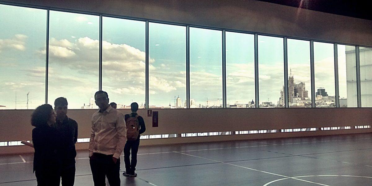 Las espectaculares vistas dela pista polideportiva del CDM Barceló, durante su inauguración | SOMOS MALASAÑA