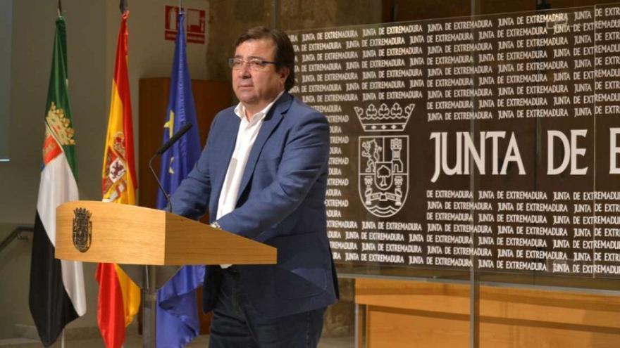 Fernández Vara, en rueda de prensa / Junta