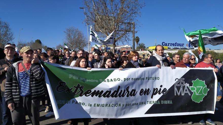 Agricultores La Unión Extremadura 25 Marzo