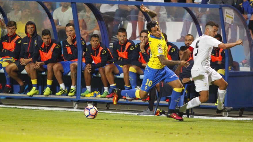 Sergio Araujo durante el encuentro entre la UD Las Palmas y la UD Orotava.