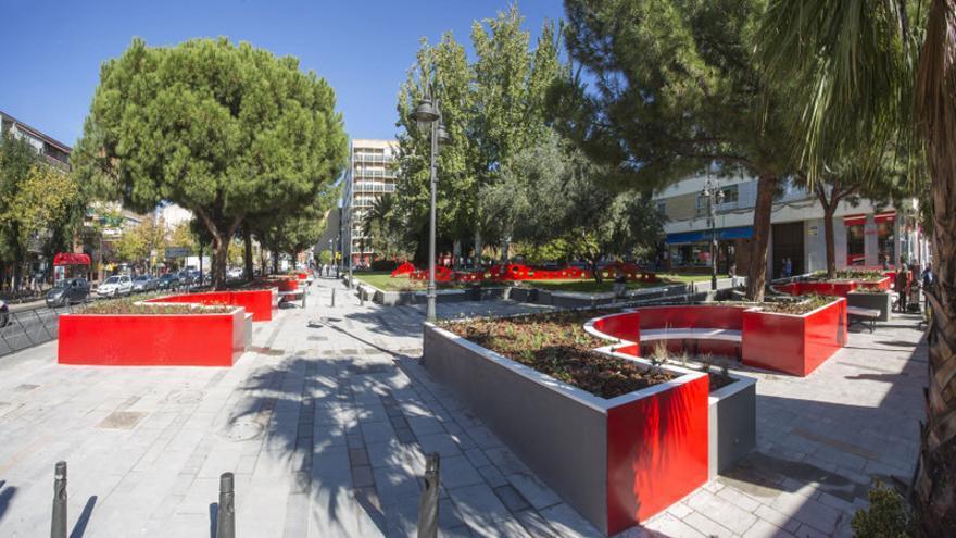 La plaza de España, en Getafe, tras el proyecto de remodelación. / Cynara
