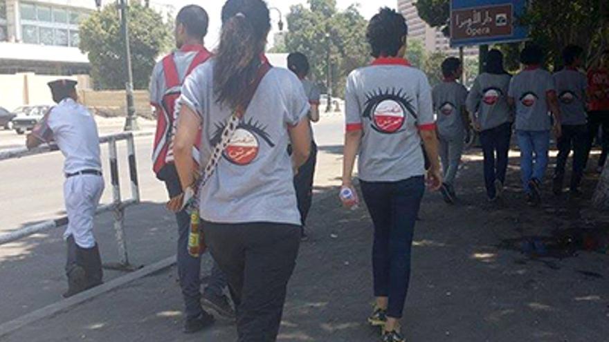 Grupo antiacoso en las calles de El Cairo (Egipto) /Foto: MSUR
