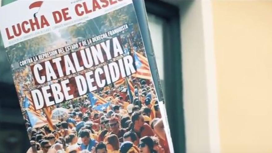 Acto a favor del referéndum en Madrid