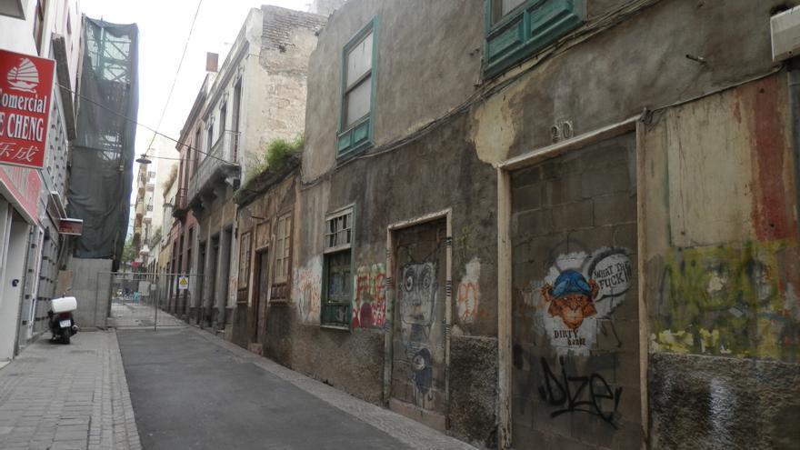 Calle Doctor Allart en el casco histórico del antiguo Santa Cruz.