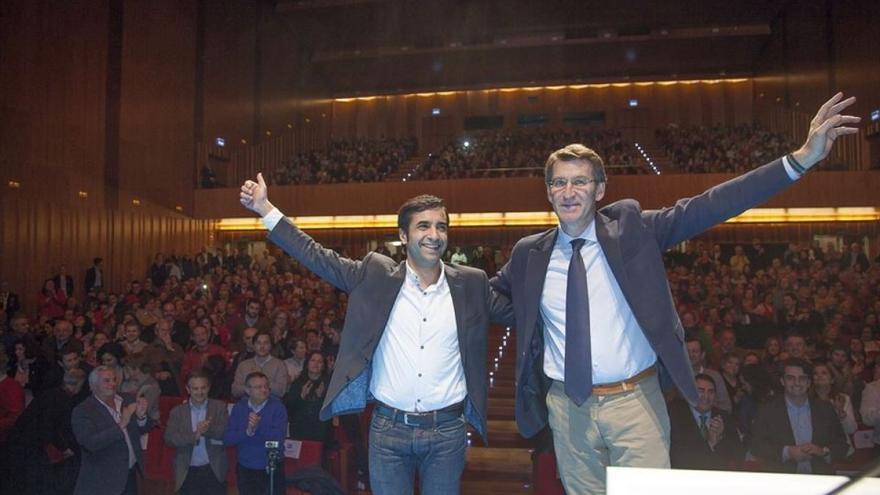 Feijóo y Rey Varela, en el mitin / PP Ferrol