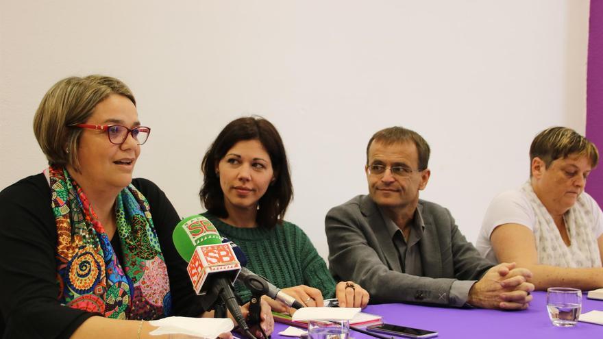 Los cuatro primeros en la lista de la confluencia, con Ramón Trujillo y a su izquierda, Yaiza Gorrín