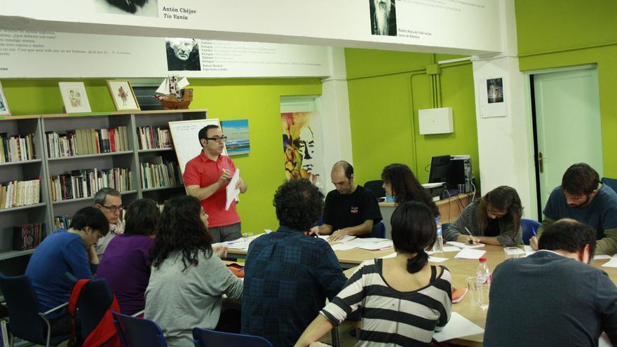 En la imagen, un momento del taller con Sergi Belbel.