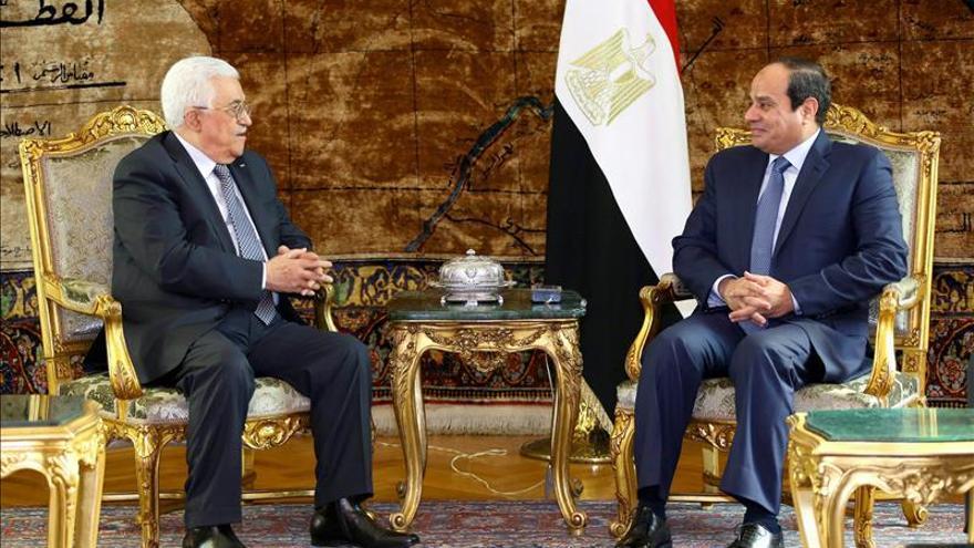 """El presidente egipcio pide una """"solución justa y global"""" para los palestinos"""