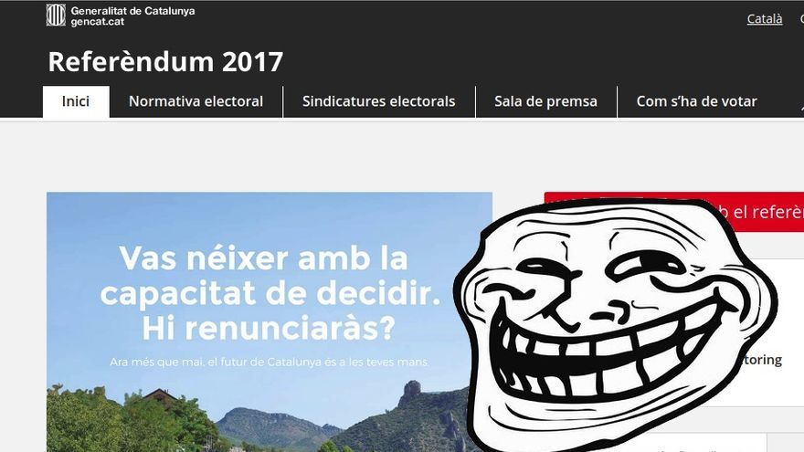 referendum.cat, clonada por Pirates de Catalunya.