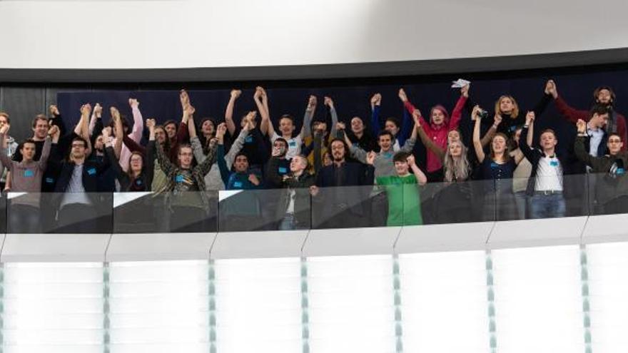 Jóvenes europeos por el clima denuncian en la Eurocámara la inacción política