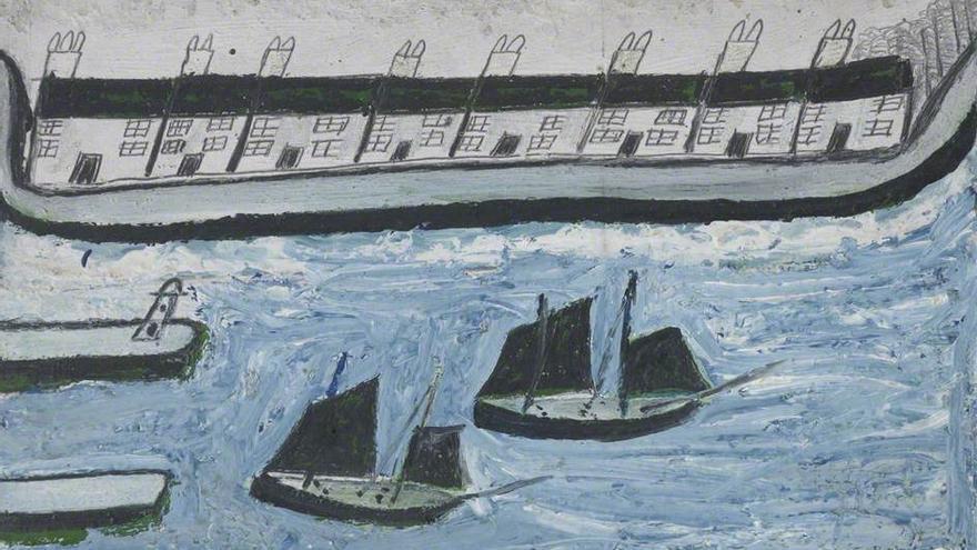Casas junto al mar (1928).   Alfred Wallis