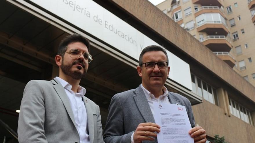 Los diputados del PSRM, Antonio José Espín y Diego Conesa