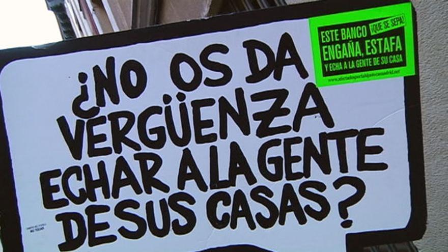 Protesta contra Bankia de la PAH (Plataforma de Afectados por la Hipoteca)