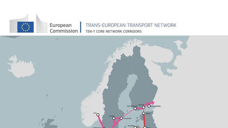 Redes europeas de transporte. Fuente: Comisión Europea 2013.