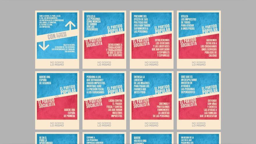 Imagen de la web nosomoslomismo.es, creada por el PSOE