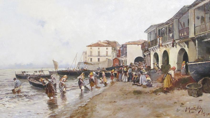 'Recogida de algas en la ribera del Berbés (Vigo)', de Juan Martínez Abades