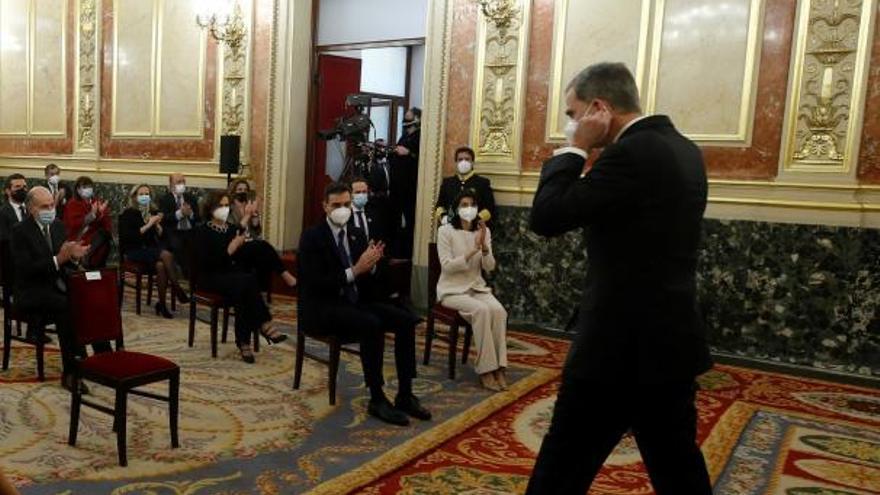 Pablo Iglesias no aplaudió al rey Felipe de Borbón tras su discurso sobre el 23F