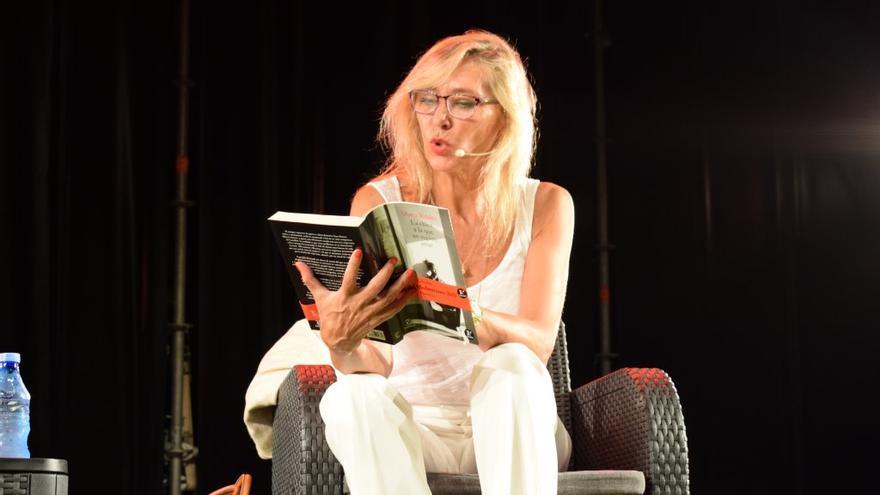 Marta Robles durante la conferencia