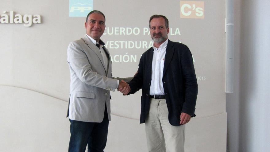 La reducción de cargos de confianza y de salarios marcan el acuerdo de PP y C's en la Diputación