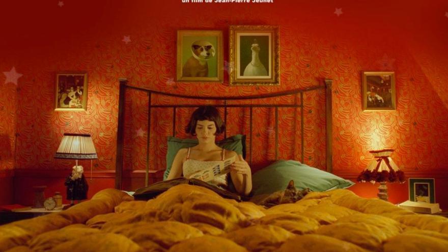 Audrey Tautou leyendo en 'Amelie'