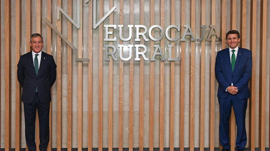 El presidente de Eurocaja Rural, Javier López Martín, y el director general, Víctor Manuel Martín FOTO: EUROCAJA RURAL