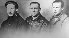 Ramiro Santisteban (derecha), junto a su padre, Nicasio, y a su hermano Manuel. La foto está tomada en Francia, antes de la II Guerra Mundial.