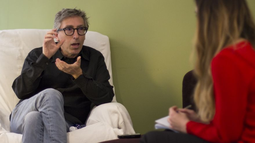 David Trueba, en entrevista con eldiario.es / Foto: David Conde