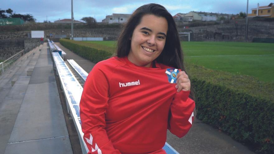 Ashley de León en la Ciudad Deportiva Tenerife Javier Pérez.