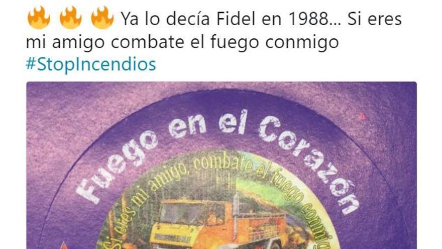 Captura del tuit del Ministerio de Agricultura