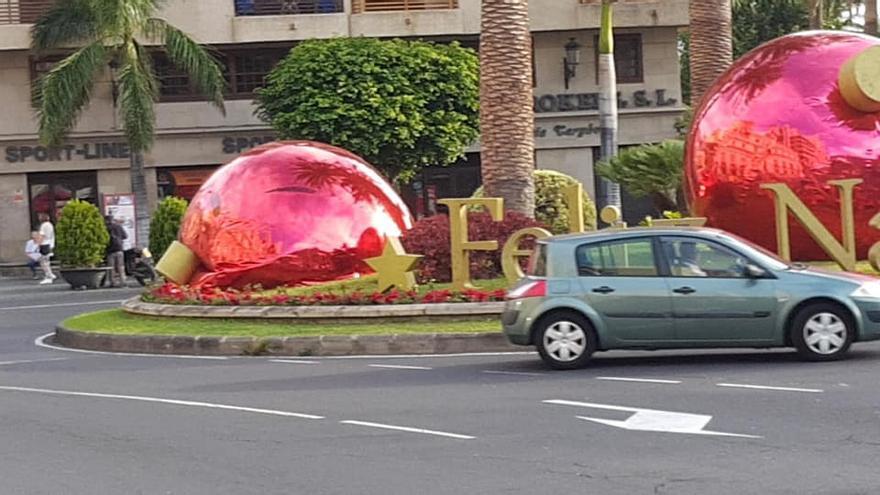 En la imagen se aprecia una de las bolas desinfladas.