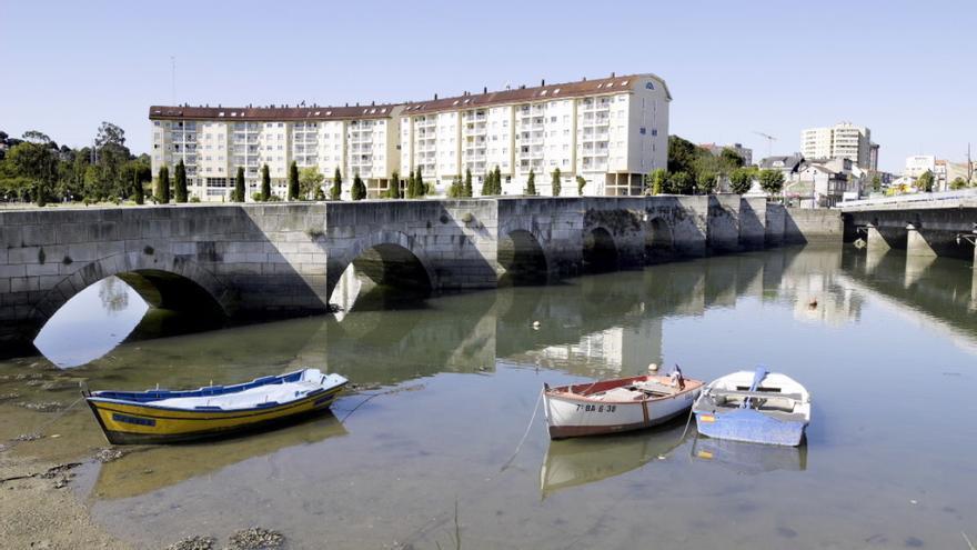 Ría do Burgo en Culleredo (A Coruña)