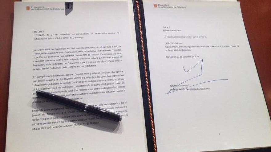 El decreto de convocatoria reivindica la capacidad del Govern para convocarla