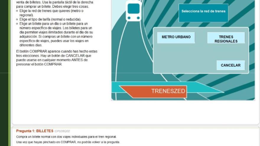 Ejemplo de las pruebas de PISA 2012: Billetes de metro.