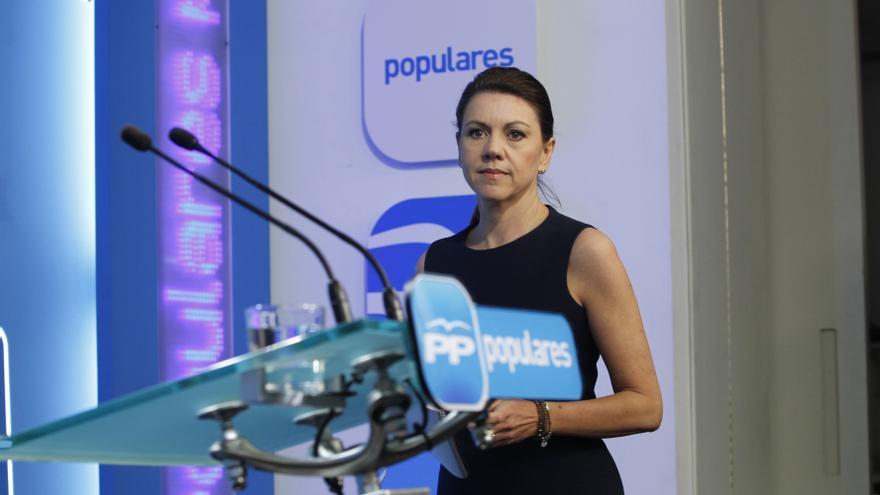 """Cospedal: """"No es fácil llegar a pactos con el PSOE si hoy está en la cumbre de Mas sobre el derecho a decidir"""""""