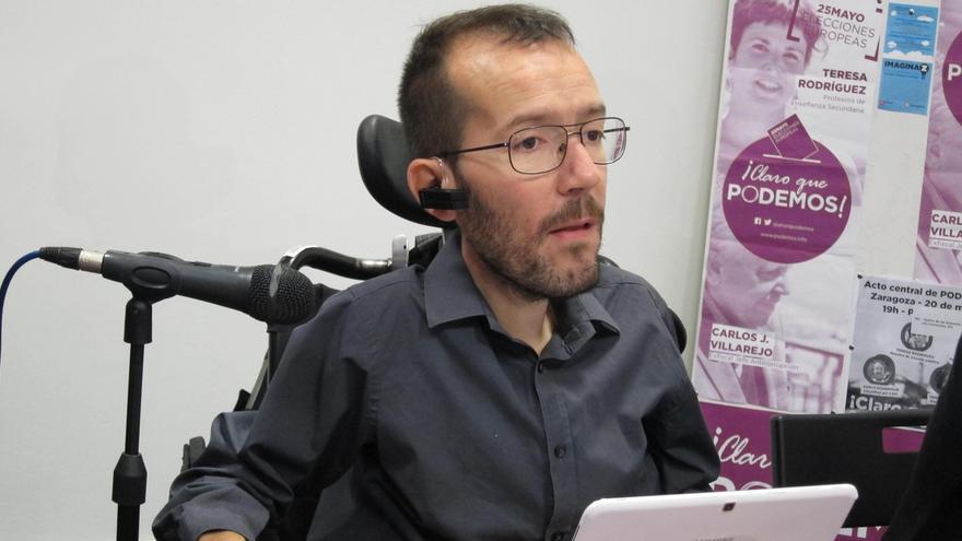 """La candidatura de Podemos que encabeza Pablo Echenique propone un """"rescate ciudadano"""" para Aragón"""