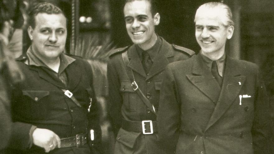 Ramón Serrano Suñer (derecha), artífice de la deportación de españoles a los campos de concentración nazis