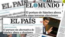 Titulares de El País y El Mundo