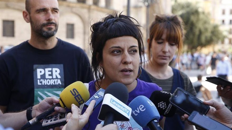 La Policía identifica en Valencia a Anna Gabriel (CUP) en un acto sin autorización
