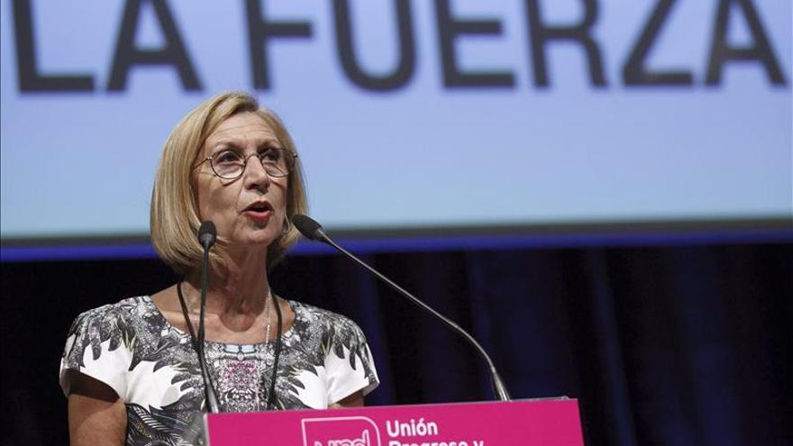 Rosa Díez reelegida al frente de UPyD por un apoyo mayor que hace cuatro años