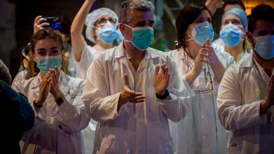 Profesionales sanitarios del Hospital Clinic de Barcelona.