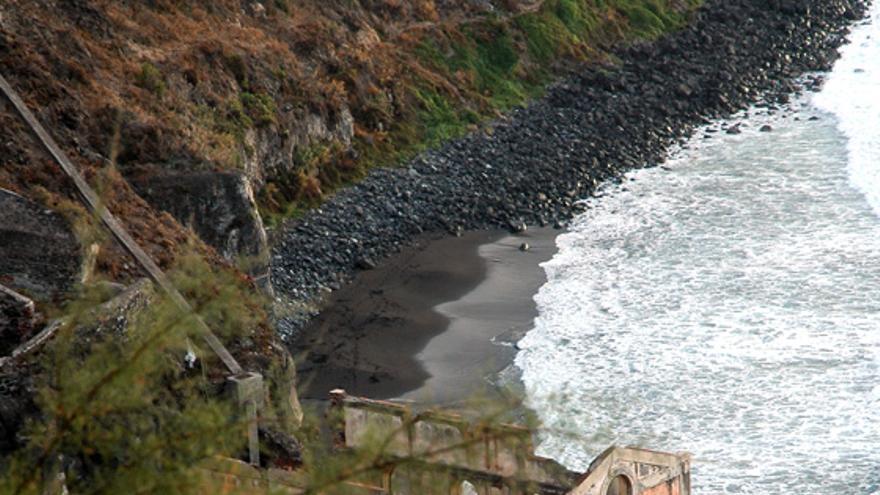 Playa de La Fajana, en el municipio de Los Realejos. (© I. F. A.)